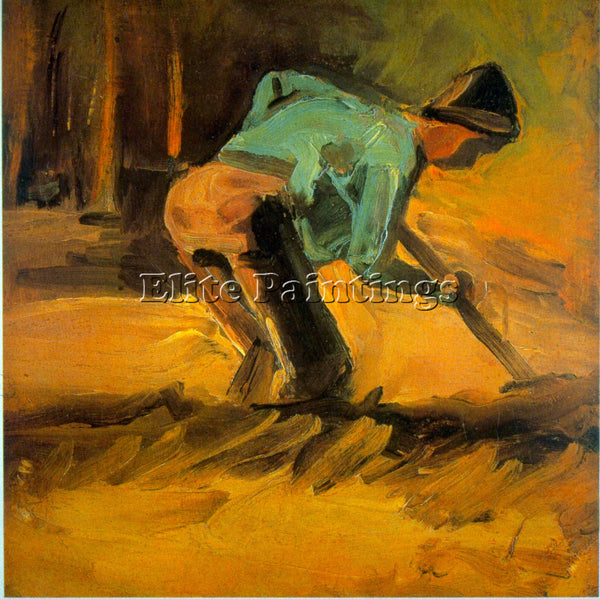 VAN GOGH MAN DIGGING ARTIST PAINTING REPRODUCTION HANDMADE OIL CANVAS REPRO WALL
