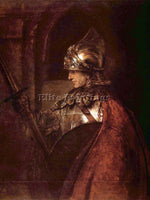 REMBRANDT MAN WITH ARMS ALEXANDER THE GREAT  ARTIST PAINTING HANDMADE OIL CANVAS