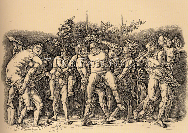 ANDREA MANTEGNA BACCHANAL WITH SILENUS ARTIST PAINTING REPRODUCTION HANDMADE OIL