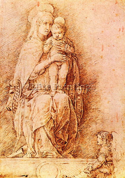 ANDREA MANTEGNA MADONNA AND CHILD ARTIST PAINTING REPRODUCTION HANDMADE OIL DECO