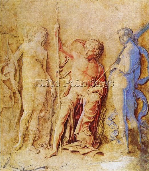 ANDREA MANTEGNA MARS AND VENUS ARTIST PAINTING REPRODUCTION HANDMADE OIL CANVAS