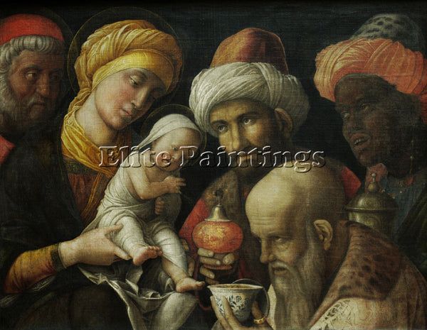ANDREA MANTEGNA THE ADORATION OF THE MAGI ARTIST PAINTING REPRODUCTION HANDMADE