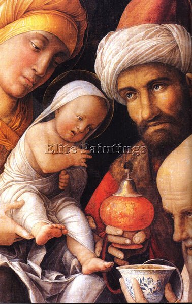 ANDREA MANTEGNA THE ADORATION OF THE MAGI DT1 ARTIST PAINTING REPRODUCTION OIL