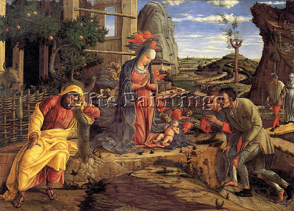 ANDREA MANTEGNA THE ADORATION OF THE SHEPHERDS ARTIST PAINTING REPRODUCTION OIL