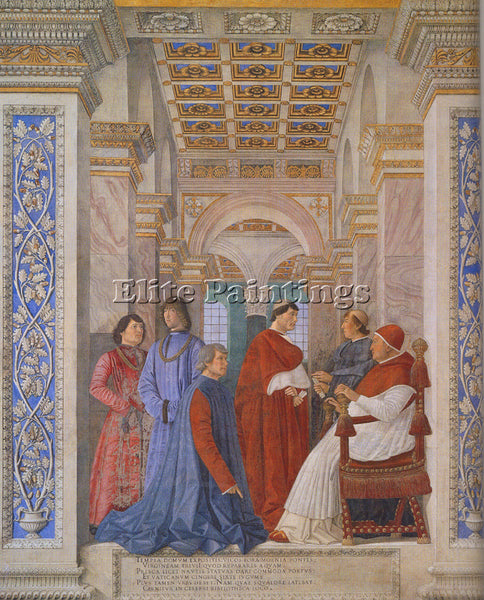 ANDREA MANTEGNA THE FAMILY OF LUDOVICO GONZAGA ARTIST PAINTING REPRODUCTION OIL