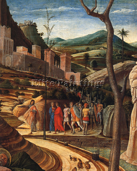 ANDREA MANTEGNA THE AGONY IN THE GARDEN DT1 ARTIST PAINTING HANDMADE OIL CANVAS