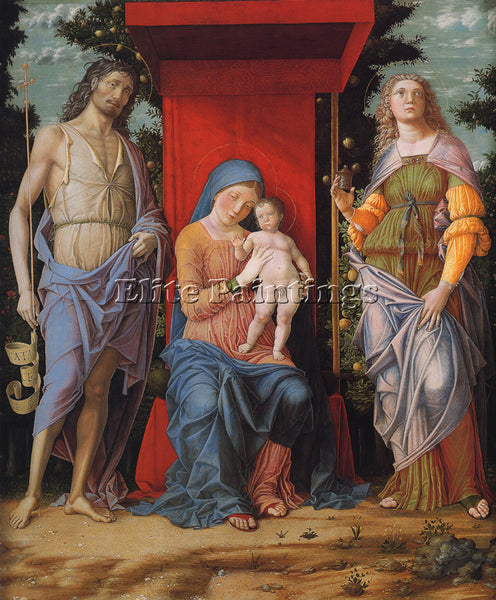 ANDREA MANTEGNA VIRGIN AND CHILD WITH MAGDALEN AND ST JOHN BAPTIST REPRODUCTION