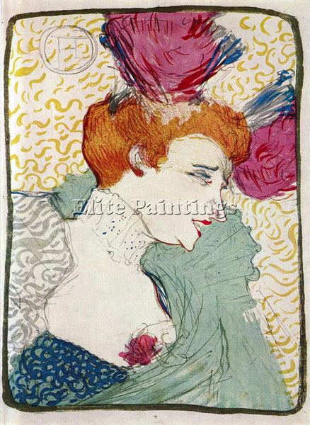 TOULOUSE-LAUTREC MARCELLLE LENDER ARTIST PAINTING REPRODUCTION HANDMADE OIL DECO