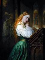BRITISH MARGARITTE IN THE CATHEDRAL ARTIST PAINTING REPRODUCTION HANDMADE OIL