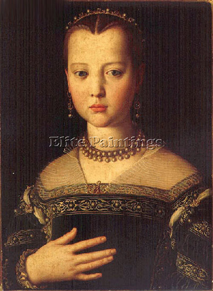 AGNOLO BRONZINO MARIA DE MEDICI ARTIST PAINTING REPRODUCTION HANDMADE OIL CANVAS