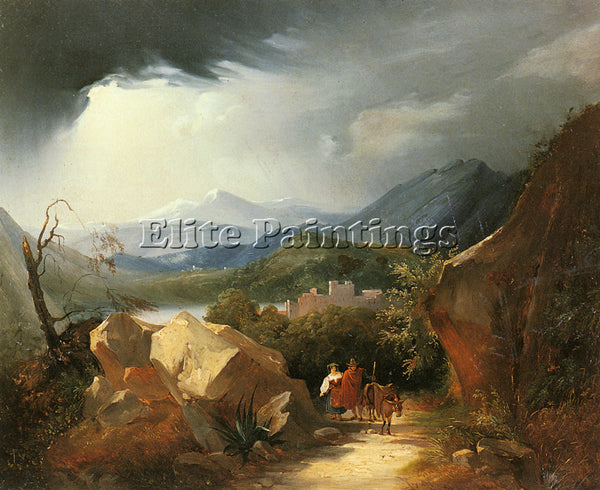 HUNGARIAN MARKO KAROLY THE PATH HOME ARTIST PAINTING REPRODUCTION HANDMADE OIL