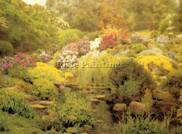 GEORGE MARKS MARKS GEORGE A WATERGARDEN ARTIST PAINTING REPRODUCTION HANDMADE