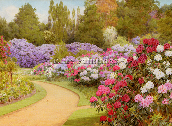 GEORGE MARKS MARKS GEORGE THE RHODODENDRON WALK ARTIST PAINTING REPRODUCTION OIL