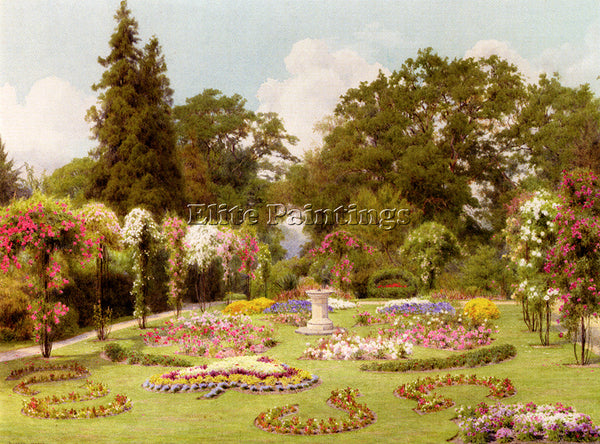 GEORGE MARKS MARKS GEORGE THE ROSE GARDEN ARTIST PAINTING REPRODUCTION HANDMADE