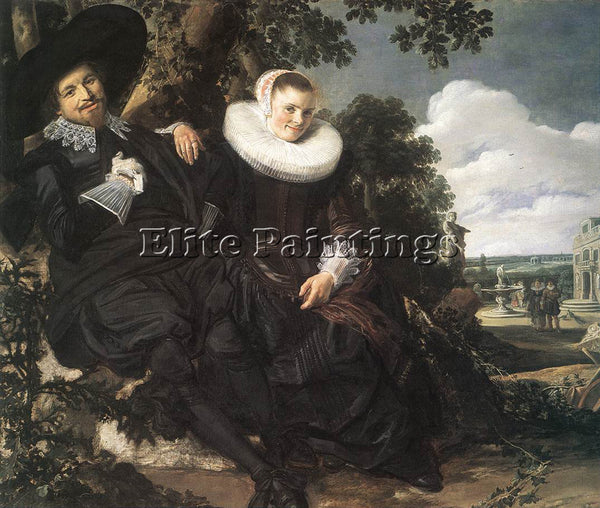 FRANS HALS MARRIED COUPLE IN A GARDEN ARTIST PAINTING REPRODUCTION HANDMADE OIL