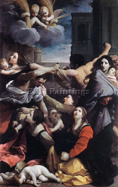 GUIDO RENI MASSACRE OF THE INNOCENTS 1 ARTIST PAINTING REPRODUCTION HANDMADE OIL