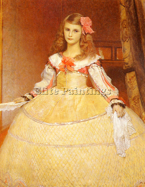 MATSCH FRANZ VON PORTRAIT ARTISTS DAUGHTER AS INFANTA AFTER VELASQUEZ ARTIST OIL