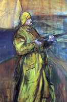 TOULOUSE-LAUTREC MAURICE JOYANT AT THE BAY SOMME ARTIST PAINTING HANDMADE CANVAS