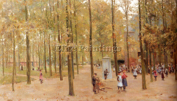 ANTON MAUVE THE BRINK IN LAREN WITH CHILDREN PLAYING ARTIST PAINTING HANDMADE