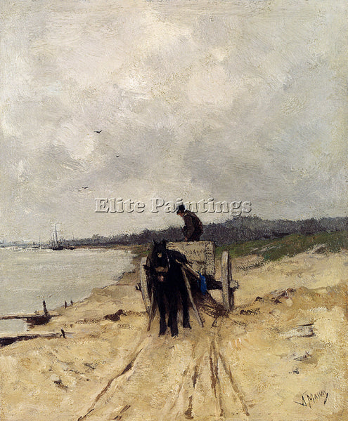 ANTON MAUVE THE SAND CART ARTIST PAINTING REPRODUCTION HANDMADE OIL CANVAS REPRO