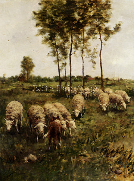 ANTON MAUVE WATCHING THE FLOCK ARTIST PAINTING REPRODUCTION HANDMADE OIL CANVAS