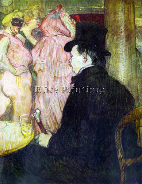 TOULOUSE-LAUTREC MAXIM DETHOMAS ARTIST PAINTING REPRODUCTION HANDMADE OIL CANVAS