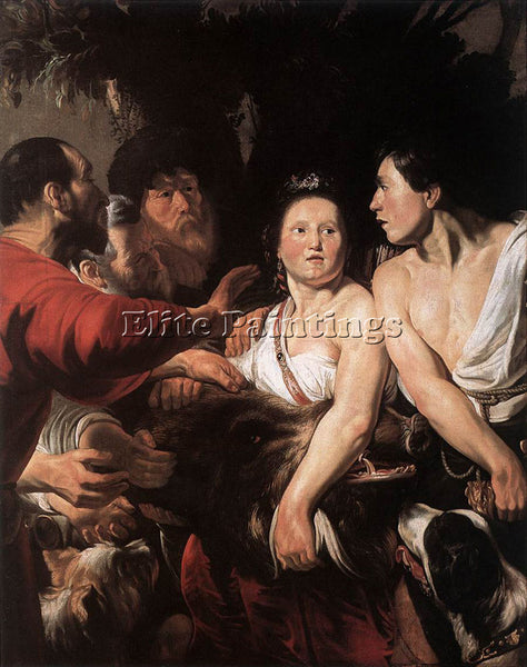 JACOB JORDAENS MELEAGER AND ATALANTA ARTIST PAINTING REPRODUCTION HANDMADE OIL