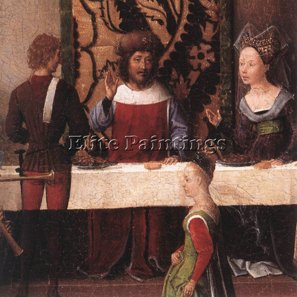 HANS MEMLING ST JOHN ALTARPIECE 1474 9 DETAIL5 LEFT WING ARTIST PAINTING CANVAS