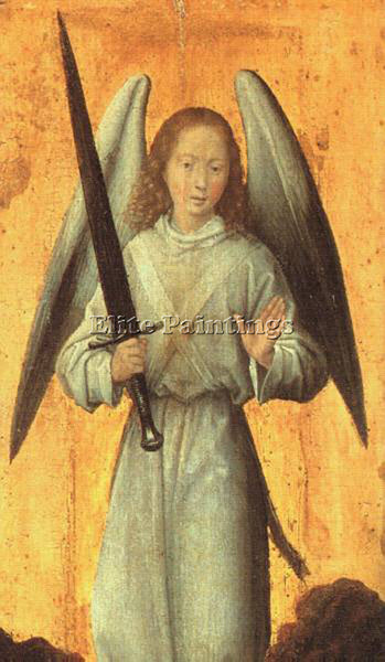 HANS MEMLING THE ARCHANGEL MICHAEL C1479 ARTIST PAINTING REPRODUCTION HANDMADE