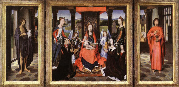 HANS MEMLING THE DONNE TRIPTYCH C1475 ARTIST PAINTING REPRODUCTION HANDMADE OIL