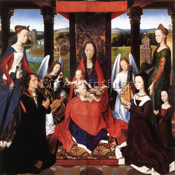 HANS MEMLING THE DONNE TRIPTYCH C1475 DETAIL2 CENTRAL PANEL ARTIST PAINTING OIL