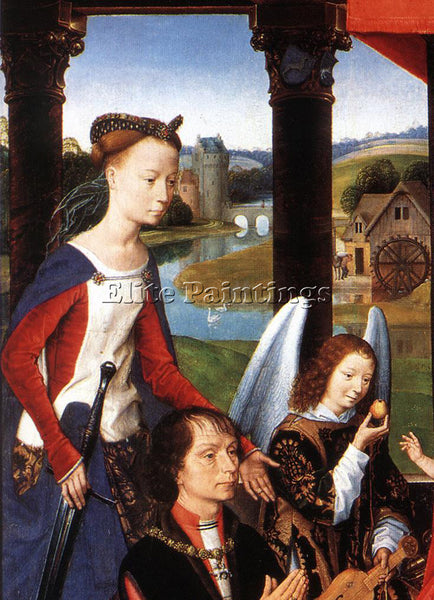 HANS MEMLING THE DONNE TRIPTYCH C1475 DETAIL3 CENTRAL PANEL ARTIST PAINTING OIL
