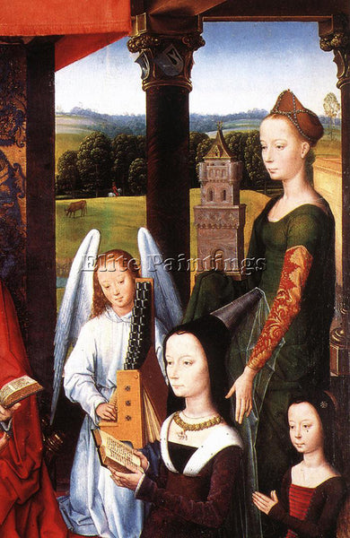 HANS MEMLING THE DONNE TRIPTYCH C1475 DETAIL4 CENTRAL PANEL ARTIST PAINTING OIL
