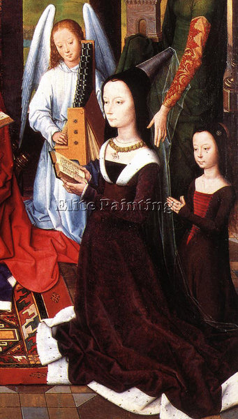 HANS MEMLING THE DONNE TRIPTYCH C1475 DETAIL5 CENTRAL PANEL ARTIST PAINTING OIL