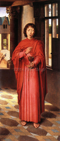 HANS MEMLING THE DONNE TRIPTYCH C1475 DETAIL6 RIGHT WING ARTIST PAINTING CANVAS