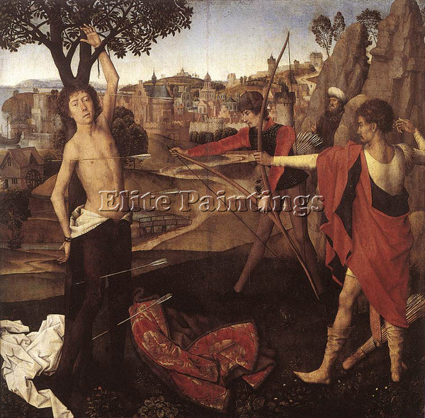 HANS MEMLING THE MARTYRDOM OF ST SEBASTIAN C1475 ARTIST PAINTING HANDMADE CANVAS