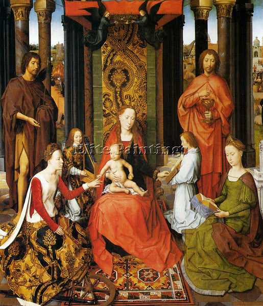 HANS MEMLING THE MYSTIC MARRIAGE OF ST CATHERINE OF ALEXANDRIA PAINTING HANDMADE