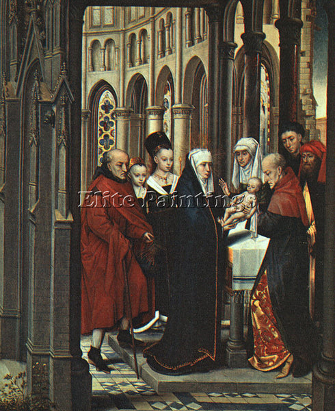HANS MEMLING THE PRESENTATION IN THE TEMPLE ARTIST PAINTING HANDMADE OIL CANVAS