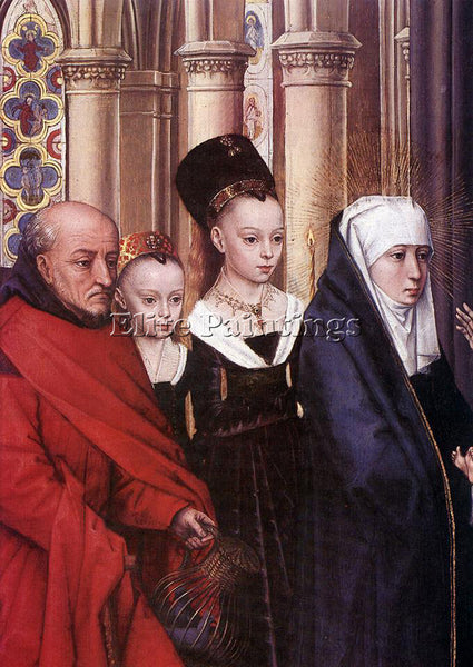 HANS MEMLING THE PRESENTATION IN THE TEMPLE DETAIL1 ARTIST PAINTING REPRODUCTION