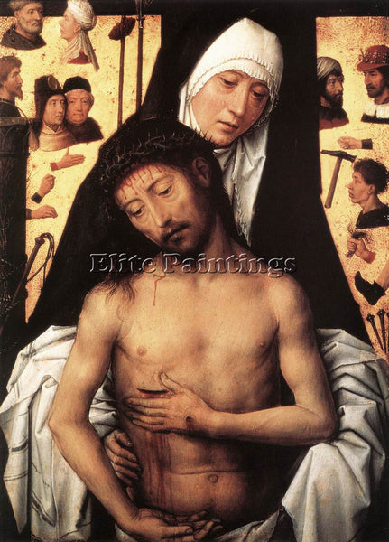 HANS MEMLING THE VIRGIN SHOWING THE MAN OF SORROWS 1475 OR 1479 ARTIST PAINTING
