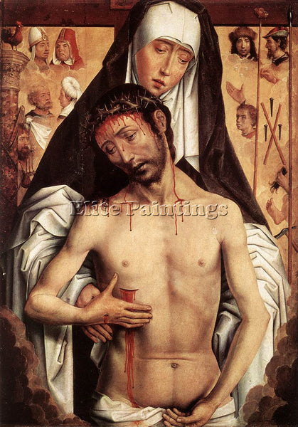 HANS MEMLING THE VIRGIN SHOWING THE MAN OF SORROWS C1480 ARTIST PAINTING CANVAS