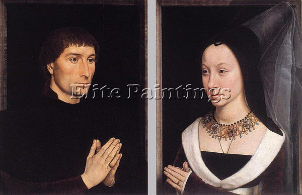 HANS MEMLING TOMMASO PORTINARI AND HIS WIFE ARTIST PAINTING HANDMADE OIL CANVAS
