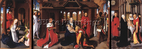 HANS MEMLING TRIPTYCH C1470 ARTIST PAINTING REPRODUCTION HANDMADE OIL CANVAS ART