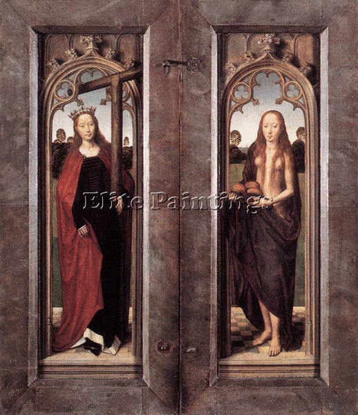 HANS MEMLING TRIPTYCH OF ADRIAAN REINS 1480 DETAIL4 CLOSED ARTIST PAINTING REPRO