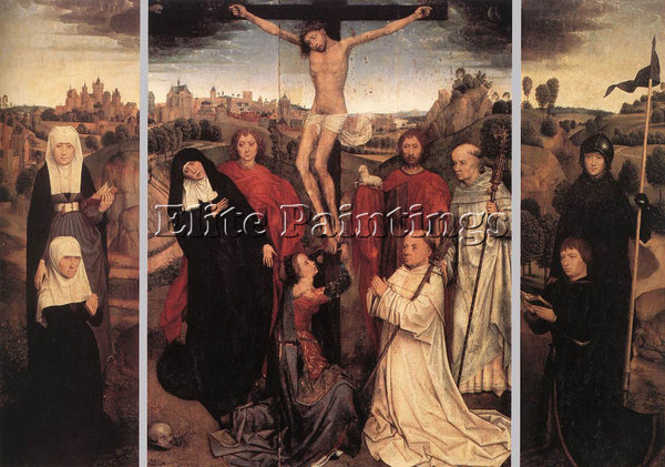 HANS MEMLING TRIPTYCH OF JAN CRABBE ARTIST PAINTING REPRODUCTION HANDMADE OIL