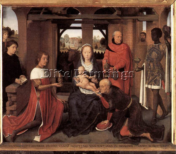 HANS MEMLING TRIPTYCH OF JAN FLOREINS 1479 DETAIL1 CENTRAL PANEL ARTIST PAINTING