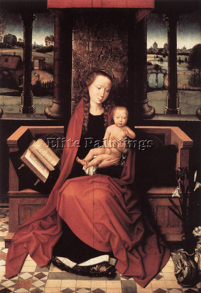 HANS MEMLING VIRGIN AND CHILD ENTHRONED 1480S ARTIST PAINTING REPRODUCTION OIL