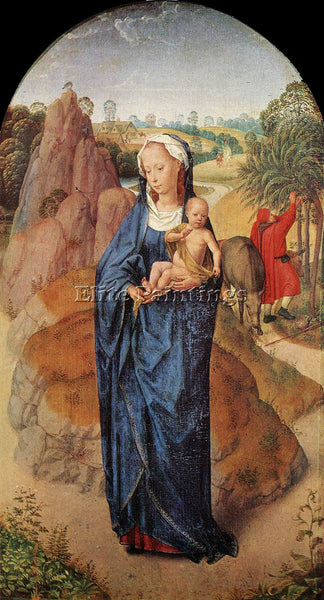 HANS MEMLING VIRGIN AND CHILD IN A LANDSCAPE ROTHSCHILD ARTIST PAINTING HANDMADE