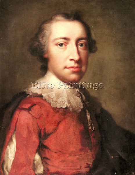 ANTON RAPHAEL MENGS PORTRAIT OF A GENTLEMAN ARTIST PAINTING HANDMADE OIL CANVAS