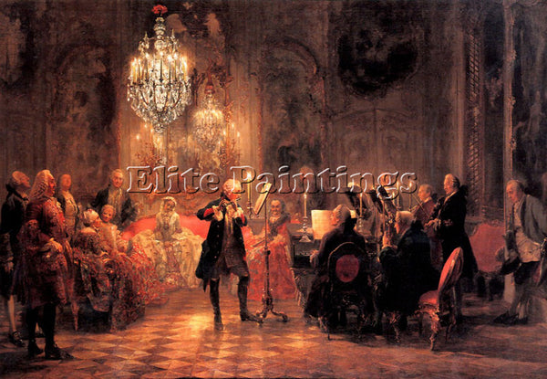 ADOLPH VON MENZEL MENZ4 ARTIST PAINTING REPRODUCTION HANDMADE CANVAS REPRO WALL